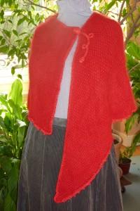 étole rouge angora
