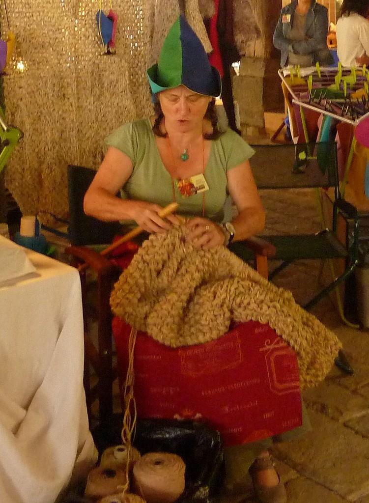 tricotage aux aiguilles géantes